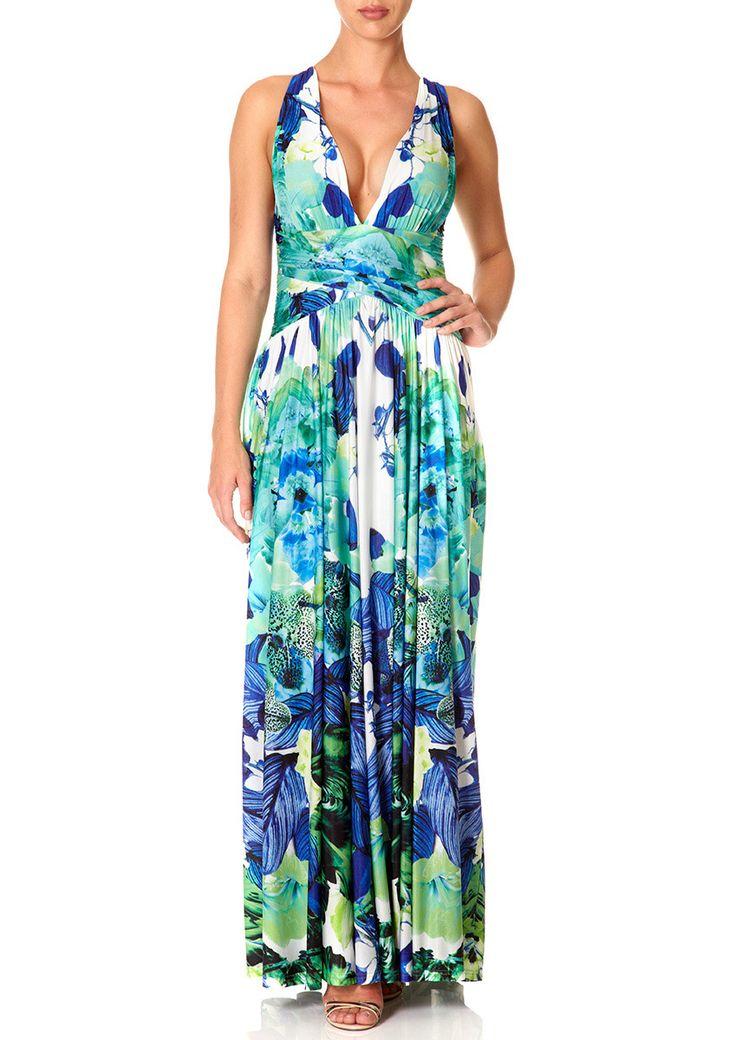 TWIST - Mirrored Print Maxi Dress