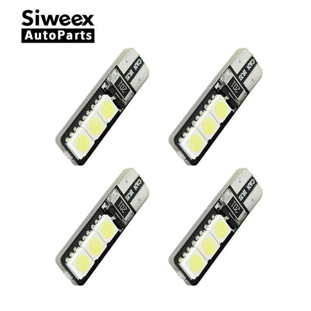 4X T10 COB 6W W5W 194 168 LED Canbus Error Free Side Wedge Light Lamp Bulb