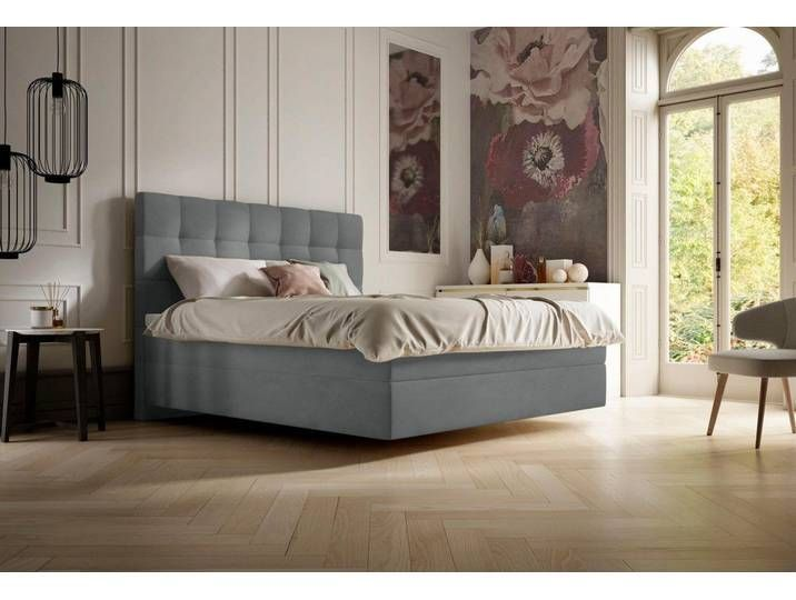 Schlaraffia Boxspringbetten Aida 120x200 Cm H2 Grau Mit Topper 120x200 Aida Bettgrau Boxspringbetten Grau Mit Schlaraf In 2020 Home Decor Home Furniture
