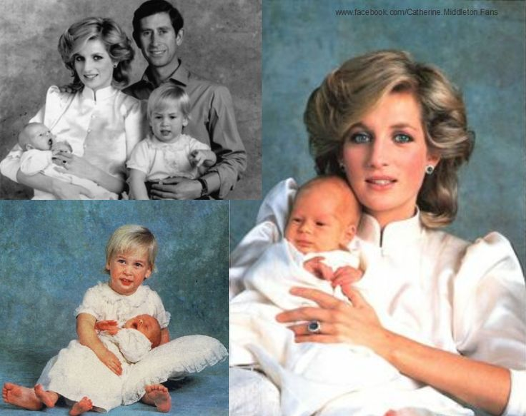 n the last picture, new born Prince Harry with his family ...