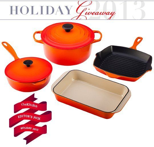 Win a Le Creuset 6-Piece Cast Iron Set in Flame — Holiday Giveaway for The Kitchn