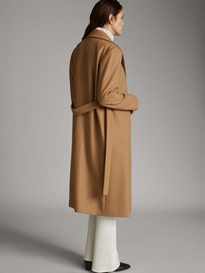 Wool Dressing Gown Coat Women Massimo Dutti Coat Career Outfits Coats For Women