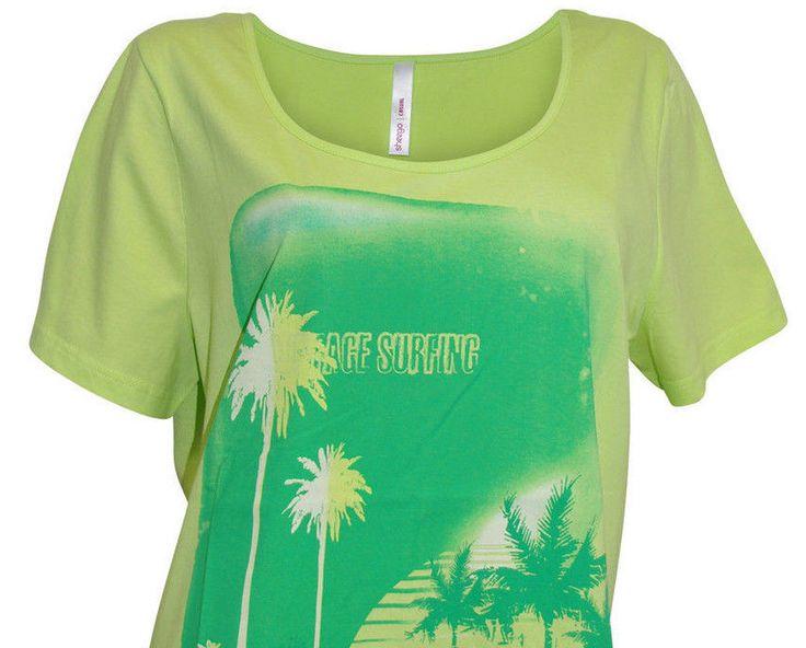 Sheego Damen T-Shirt  Grün Neu Gr.44/46 in Kleidung & Accessoires, Damenmode, Blusen, Tops & Shirts | eBay!