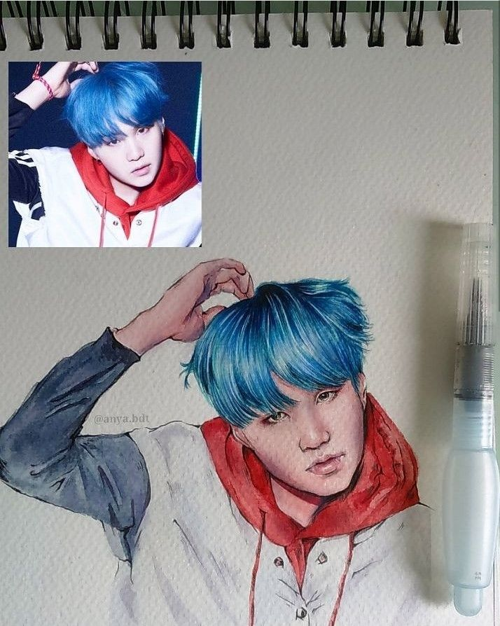 Min Yoongi | Suga | BTS fanart | credit to the artist