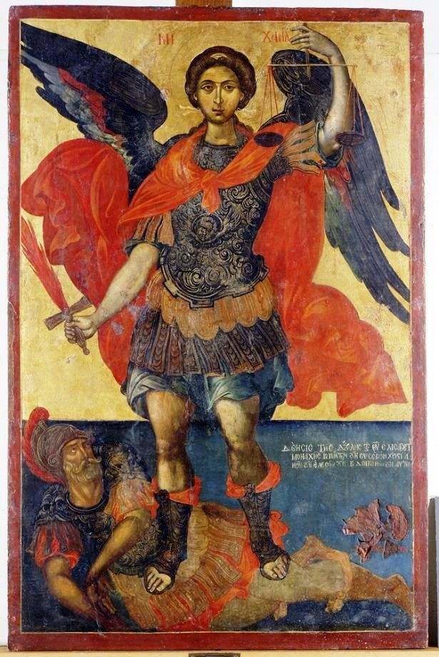 Αρχάγγ.__ Μιχαήλ _ nov 8 ( The Archangel Michael Creator: Elias Moskos Date: 17th century Dimensions (cm): 104 Χ 68,5 At the Byzantine and Christian Museum, Athens...