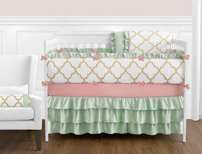 Ava Crib Bedding Collection 9-Piece Crib Set (Ava-9)