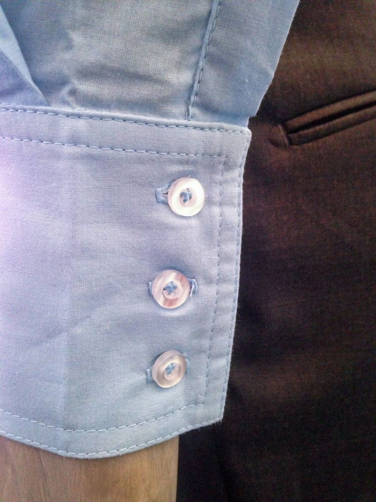 Cotton shirt - cuff detail.