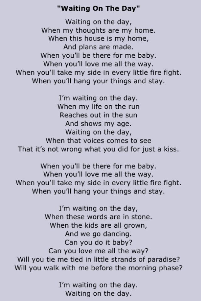 John Mayer -WAITING ON THE DAY.♥