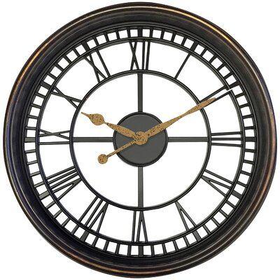 Williston Forge Worrell 20 Wall Clock In 2020 Black Wall Clock