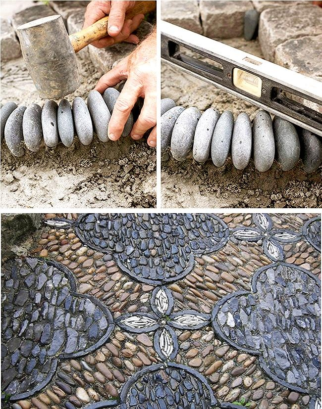 Garden Mosaic from pebbles