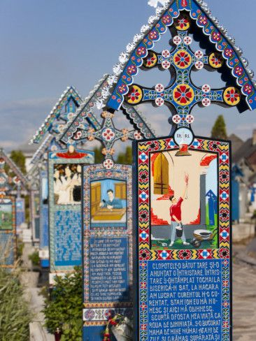 Merry Cemetery, Sapanta, Maramures, Romania, Europe Photographic Print by Marco Cristofori at AllPosters.com