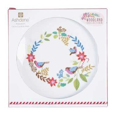 Ashdene Woodland Gift Boxed Cocktail Plate Multicoloured