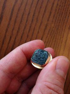 ♔ Arabic Writing Jewellery  Uℓviỿỿa S. Osmanlı mühür altın yüzük