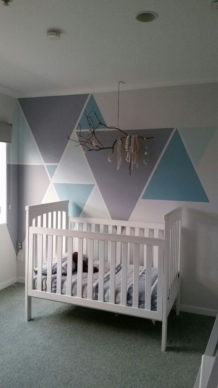 Upgraded Baby Bear's feature wall to more 'boy like'