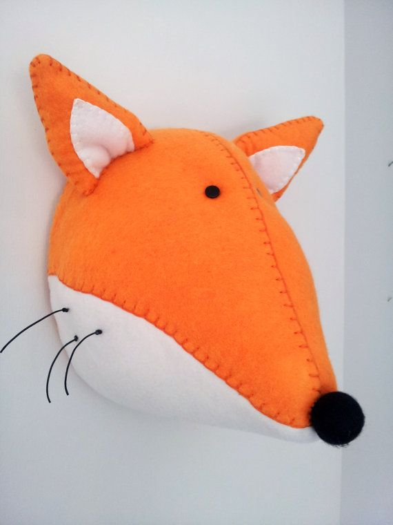 Wall Mounted Animal Heads in Fabric Fred by GillsPopArtEmporium