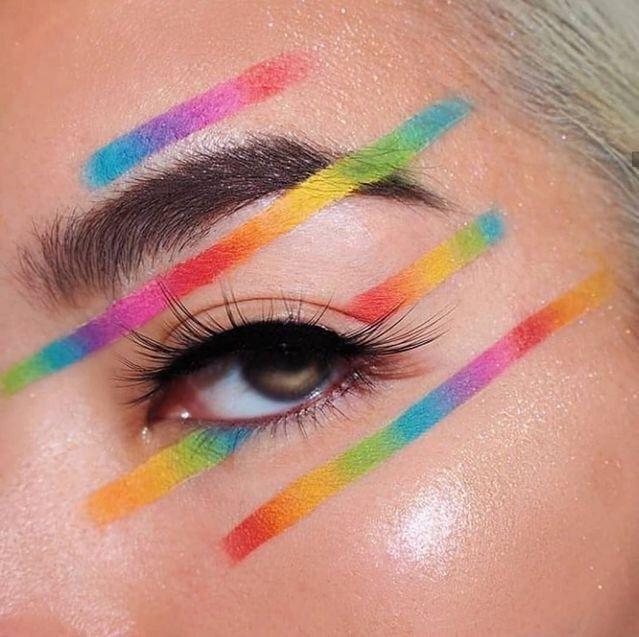 Lezbiyen, Gay, Biseksüel, Transgender ve İnterseks Edgy Eye Makeup, Creative Eye Makeup, Colorful Eye Makeup, Eye Makeup Art, Glam Makeup, Simple Makeup, Makeup Inspo, Makeup Inspiration, Beauty Makeup