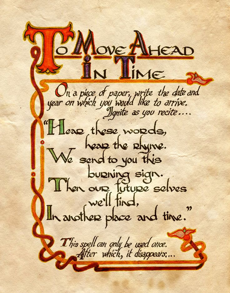 "Book of Shadows:  ""To Move Ahead In Time,"" by Charmed-BOS, at deviantART."