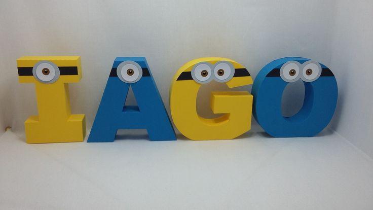 Letras 3D, produzidas em papel de scrap 180 gramas. Ideal para decoração de mesa para festa de aniversários, chá de bebê, decoração de quartos, etc.  Tamanho médio da letra é de 12 cm.