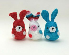 Adorable free patterns for these little lovelies over at Stip & Haak