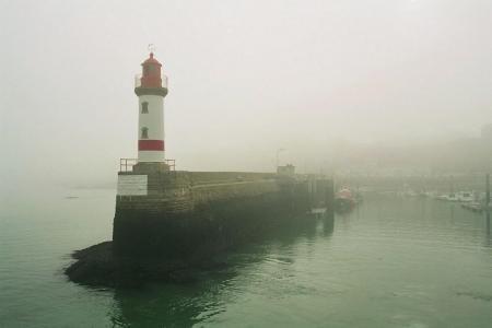 port Tudy, île de Groix, brouillard
