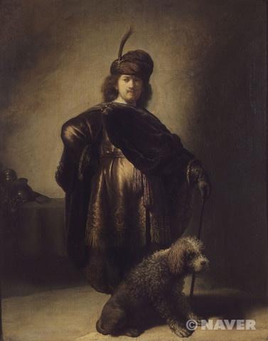 파리의 프티 팔레에 소장된 이 작품은 1631년 렘브란트가 그린 인물화다. 인물화는 서양 미술에서 흔히 초상화로 분류된다. 초상화는 어떤 인물의 모습을 회화나 조각 형식으로 재현하여 남김으로써 동시대와 후대에 기억, 회상, 회고, 추억, 기념, 증거를 제공한다. 초상화는 이런 점에서 두 가지 경향을 띤다. 하나는 초상화의 대상이 되는 인물의 모습을 있는 그대로 충실하게 재현하는 모방의 경향이다. 또 하나는 원래 모습에서 자연의 결함을 제거하거나 미화하여 개선하려는 경향이다. 대개 군주와 왕가의 초상, 성직자와 성인들의 초상에서 후자가 두드러진다. 사후 초상도 경향은 비슷하다. 다시 말해 보이는 모습과 보이고 싶은 모습의 스펙트럼 가운데 초상적 재현의 좌표가 존재한다고 볼 수 있다. 여기서 보이는 모습의 재현은 초상화가의 표현력과 의지에, 보이고 싶은 모습의 재현은 초상화 주문자의 요구와 욕망을 반영하게 마련이다.