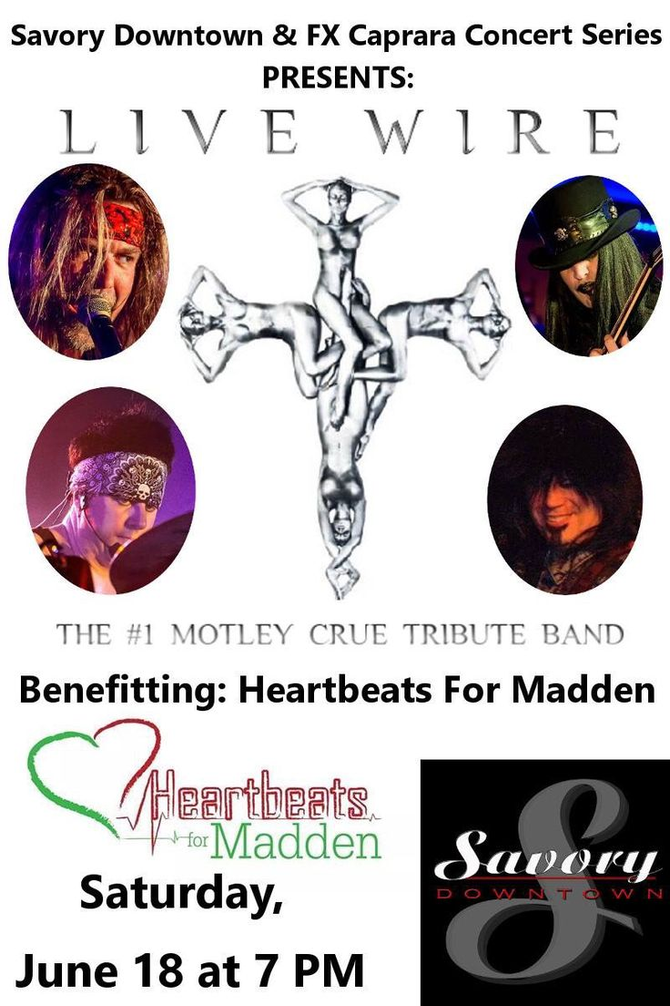 Tomorrow night, LIVE WIRE, The #1 Motley Crue Tribute Band TAKES OVER WATERTOWN, NEW YORK!  Saturday, June 18, 2016 Appearing at The Ballroom At Savory Downtown located at 300 Washington Street, Watertown, NY 13601  With special guests ~Dragnfly~ and Downgrade  Proceeds Benefit Heartbeats for Madden!  Tickets are only $15 and can be purchased at the door or visit: http://www.ticketfly.com/event/1133649-live-wire-1-motley-crue-watertown/  Come on out, Watertown, New York, and SHOUT AT THE…