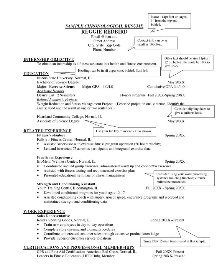 9 best Resumes images on Pinterest Resume ideas Sample resume and Gym