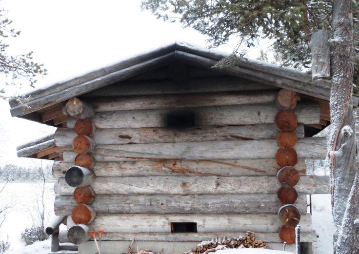 Smoke Sauna at Hotel Kakslauttanen in Finnish Lapland. See more photos at www.kiviluoma52.me #travelscandinavia