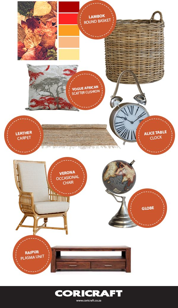Get inspired by autumn's colours and create a timeless look in your home.