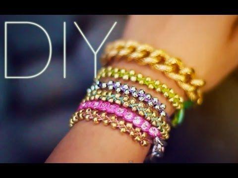 #DIY beaded stacking bracelets