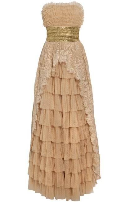 Manoush Long Strapless Dress in Lace