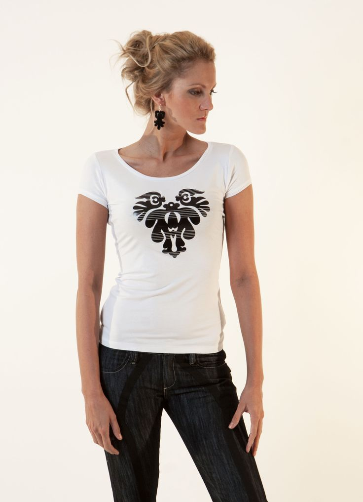 Basic top with black print