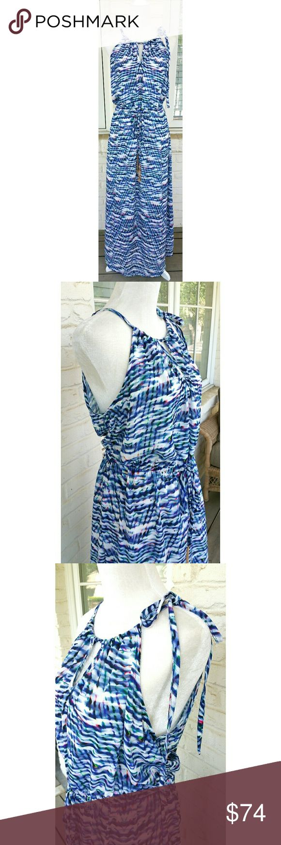 NWT, CITY CHIC Cobalt Copacabana Maxi Dress Gorgeous printed maxi dress with elastic waistband, keyhole neck, side shoulder tie, and all the fashion your little heart desires! This is a beautiful Summertime Maxi dress! City Chic Dresses