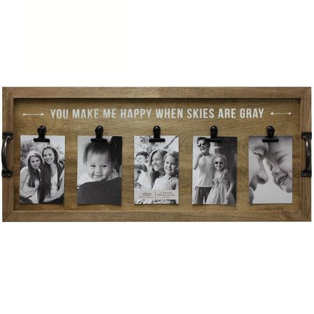 Found it at Wayfair - Alain You Make Me Happy When Skies Are Gray Picture Frame http://www.wayfair.com/daily-sales/p/Cottage-Garden%3A-Artificial-Flowers-%26-More-Alain-You-Make-Me-Happy-When-Skies-Are-Gray-Picture-Frame~FHK1768~E20275.html?refid=SBP.rBAjD1OWOLq9qF82Z_JCAtUoNqMw4EdTouyslWPfilE