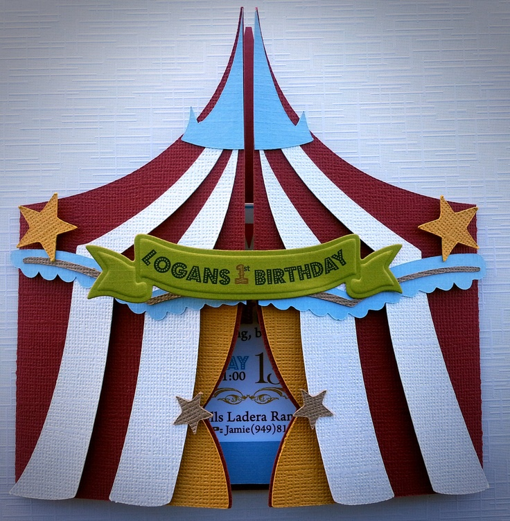 Carnival/Circus Invitations by Bloominkards on Etsy, $48.00