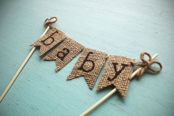 Baby Shower Cake Topper, Rustic Country Barn Baby Shower Topper, Rustic Cake Topper, Barn Baby Shower Cake Topper, Burlap Banner Cake Topper