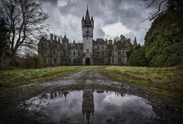Château Miranda, a long abandoned castle in Belgium.  Love the reflection on the water!