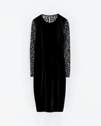 Image 6 of VELVET LACE DRESS from Zara