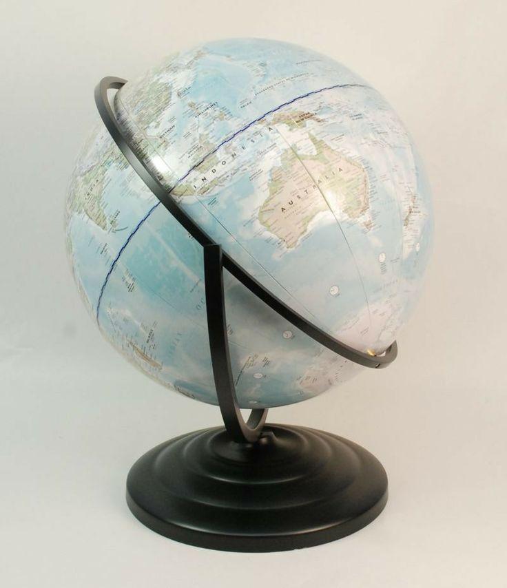 Telegram World Globe - Metal Base with O-Ring Metal Frame