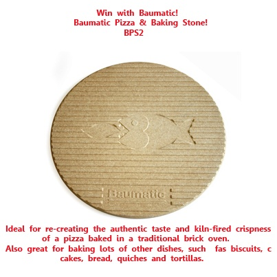 Win 1 of 5 Pizza & Baking Stones! To be in with the chance of winning, repin this pin & let us know that you have done this by emailing us at marketing@baumatic.co.uk! The winners will be emailed by he end of the week! Good luck!