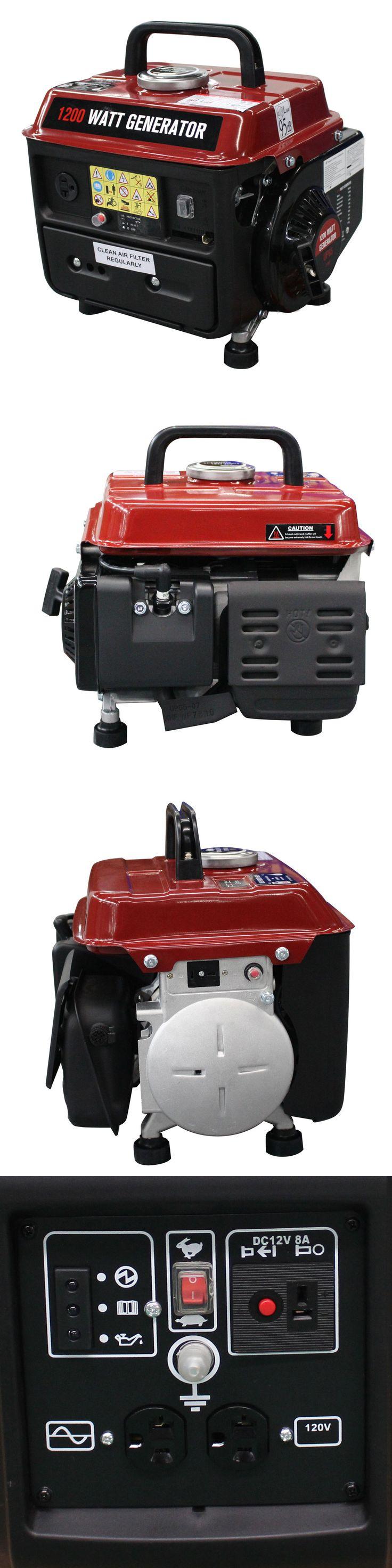 Generators 33082: 1200W Gasoline Generator 2 Stroke 63Cc Single Cylinder Gas Powered Portable Epa -> BUY IT NOW ONLY: $99.95 on eBay!