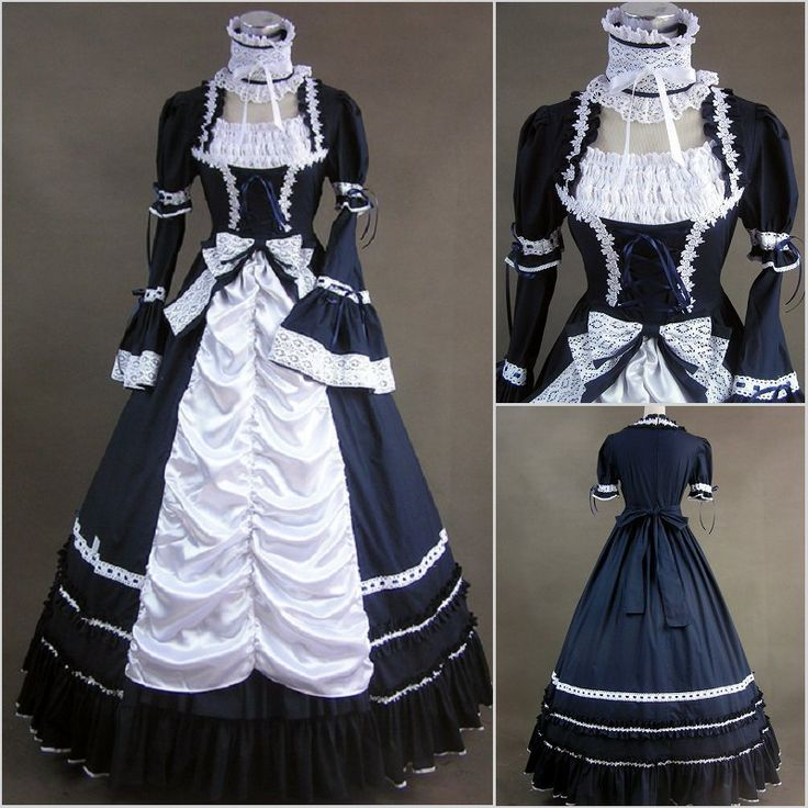 Gothic dress costume lace sleeves