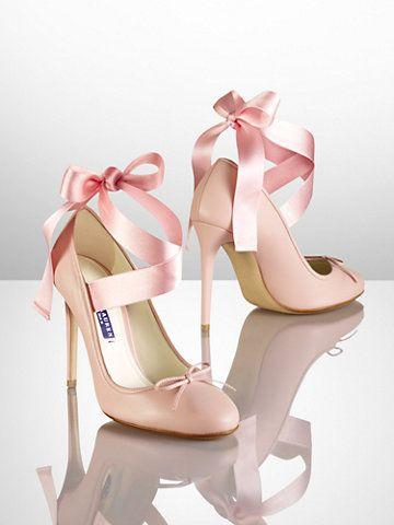 Barton Calfskin Ballet Pump - Heels & Pumps Shoes - Ralph Lauren UK
