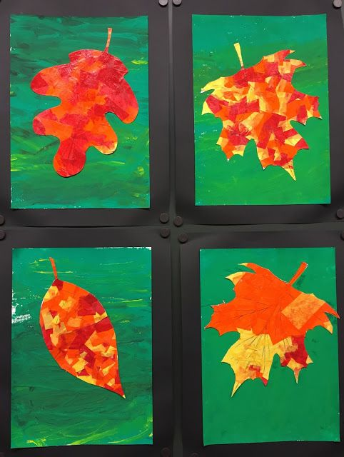 Fall leaf craft / art project