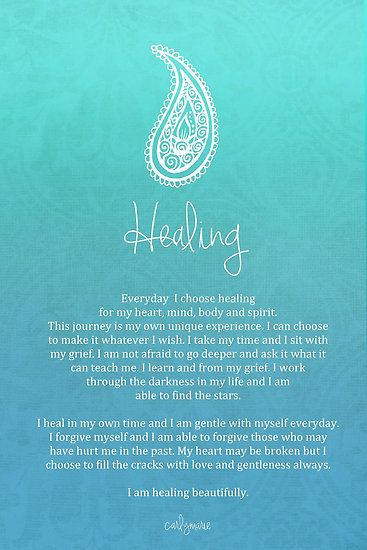 Affirmation ~ Healing by CarlyMarie