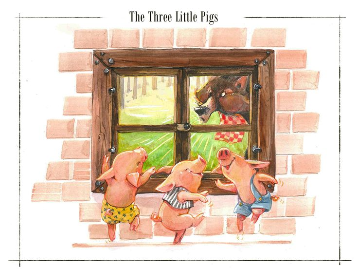 NUBOMEDIA Live Tale's concept art. Three little pigs on Behance