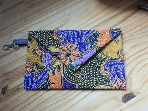 DIY coudre une pochette cadeau noël forme d'enveloppe