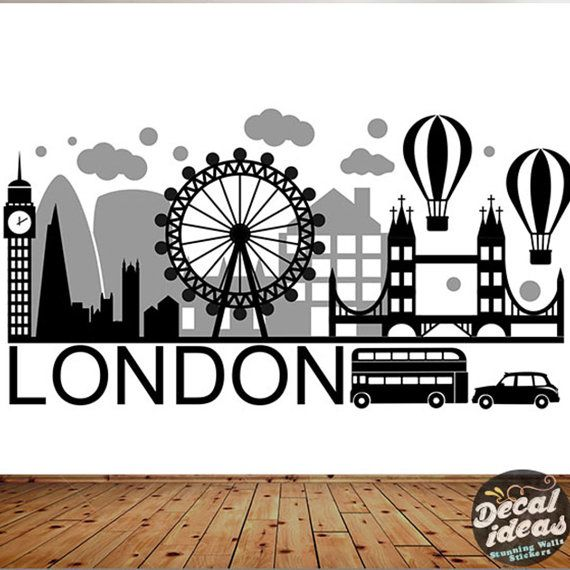 ✔ Big ban wall sticker London wall decal UK for home decor, ✔ Peel & Stick colorful London city and Westminster wall art for home decoration ✔