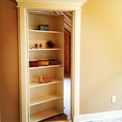 Bookshelf Door: Great For Attic Split Into Storage And Office!