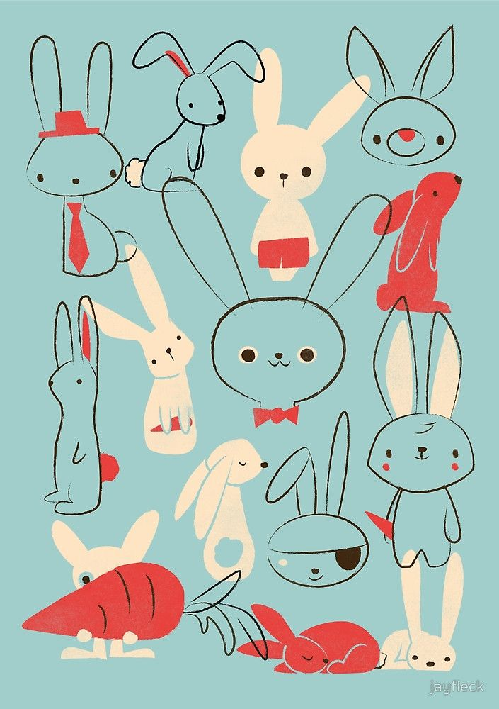 """Bunnies"" by jayfleck | Redbubble"
